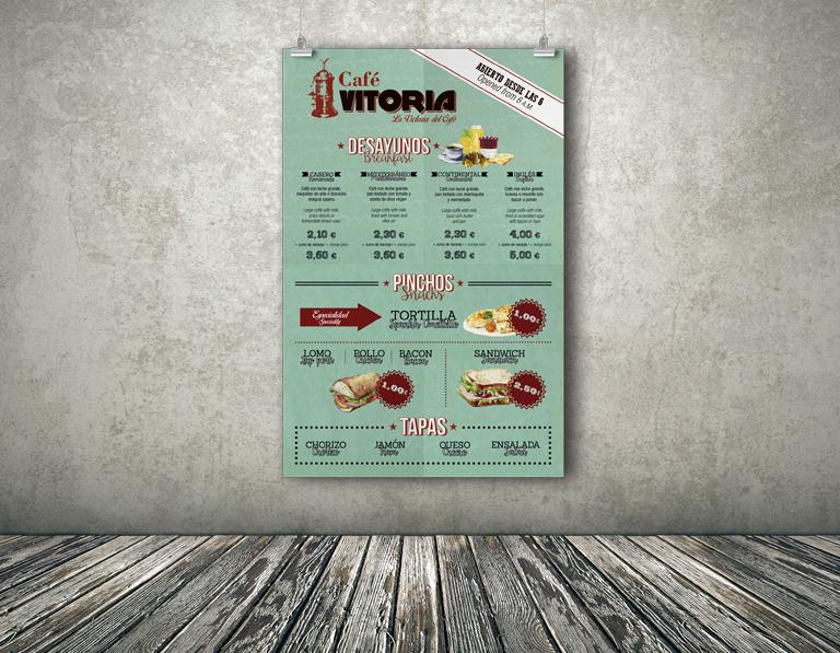 Diseño e impresión carta mural restaurante
