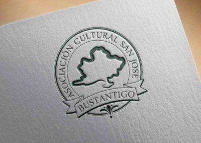 DISEÑO DE LOGOTIPO/SELLO DE CAUCHO PARA ASOCIACIÓN CULTURAL SAN JOSÉ BUSTANTIGO