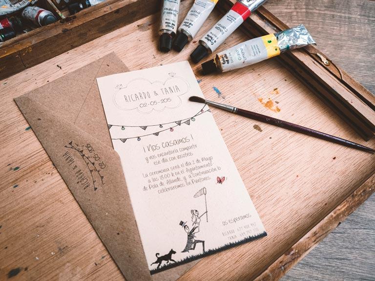 invitacion boda original en gijon