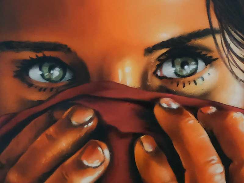 mural graffiti niña afgana